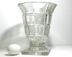 Big Glass Vases For Centerpieces by Glass Pedestal Vase Etsy