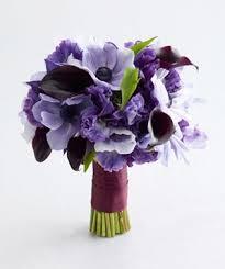 purple wedding bouquets purple wedding flowers real simple