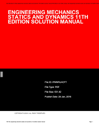 engineering mechanics statics solutions manual pdf engineering