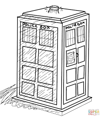 the tardis coloring page free printable coloring pages