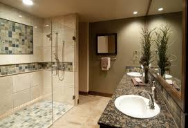 wood tile bathroom floor with penny shower showing best ideas