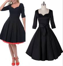 2015 womens fashion 1950 u0027s rockability pinup vintage black swing