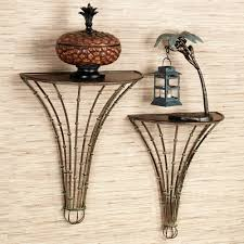 metal bathroom wall shelves bamboo forest indoor outdoor metal wall shelf set
