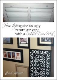 Wall Air Conditioner Cover Interior Curb Alert Repurposed Door Mat To Cover An Ugly Return Air Vent