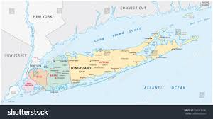 Map Of Long Island New York by Long Island Map Stock Vector 356023628 Shutterstock