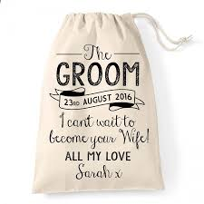 wedding gift husband personalised vintage rustic groom gift bag for the big day great