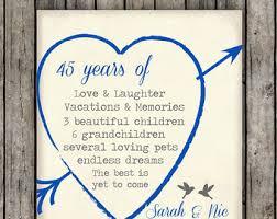 45 year anniversary gift 11 45 wedding anniversary gifts 45th anniversary gift 45th year