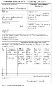 business requirements document template requirements traceability