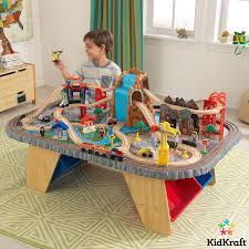 kidkraft train table compatible with thomas kidkraft waterfall junction train set table 3 years costco uk