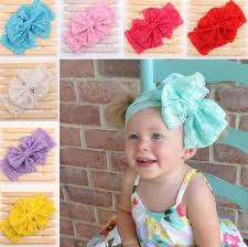baby headwrap floppy big bow headband for baby wrap top knot lace