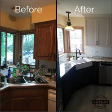 should i paint cabinets before installing countertop kitchen transformation before and after granite countertops