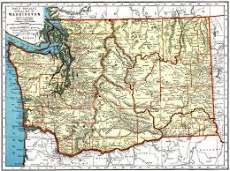 Washington Highway Map by Washington State Genealogy Resources