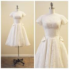vintage bridal 1950 u0027s ivory chantilly lace tea length wedding