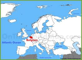 map of begium belgium location on the europe map