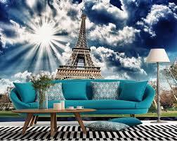 3d Wallpaper For Living Room by Aliexpress Com Buy Eiffel Tower 3d Wallpaper Modern For Living