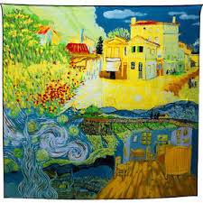 vincent van gogh bedroom scarf silk vincent van gogh bedroom starry night field arles france
