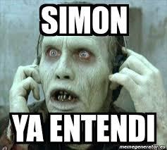 Simon Meme - meme personalizado simon ya entendi 1732787