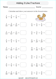 add 3 like fractions and answer in the lowest possible terms