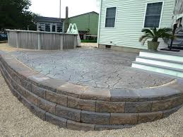 Pictures Of Stamped Concrete Walkways by Retaining Walls