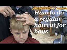 How To Do A Regular Haircut For Boys Blonde Radial Haircut