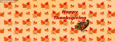 happy thanksgiving cornicopia fall leaves pattern cover