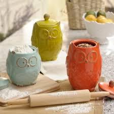 owl kitchen canisters owl canister set of 3 kirklands