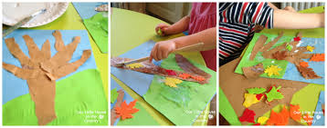 autumn tree collages u2013 fall art activities for kids our little