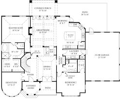 european house plan with 4 bedrooms and 4 5 baths plan 4529