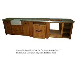 meuble cuisine zinc meuble cuisine bois et zinc meuble acvier de cuisine 4 portes zinc
