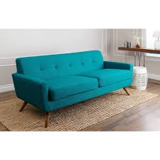 Mid Century Modern Style Sofa by Update Your Home With Modern Style Thanks To This Petrol Blue Sofa