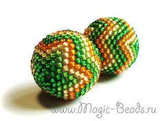 russian beadwork site beaded bead tutorial use 20mm interior bead