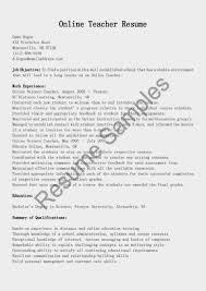 Online Instructor Resume 100 Resume Preschool Teacher Sample Resume For Vocational
