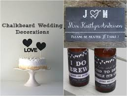 chalkboard wedding decorations rustic wedding chic