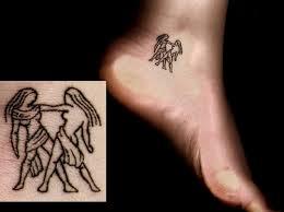 small zodiac gemini on ankle tattoos book 65 000