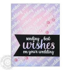 best wishes for wedding card studio sts heartfelt wishes photopolymer 3x4 clear st set