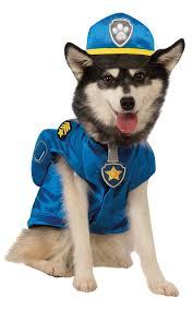 pet halloween costumes uk amazon com paw patrol chase dog costume pet supplies