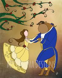 beauty beast inspired print belle beast dancing rose