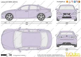 lexus is van the blueprints com vector drawing lexus is 300h