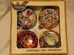 vintage glass christmas balls lanissa shiny brite ornaments
