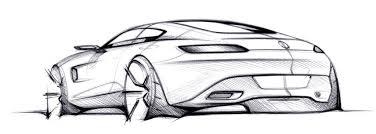 porsche concept sketch mercedes amg gt official sketch rear three quarter indian autos blog