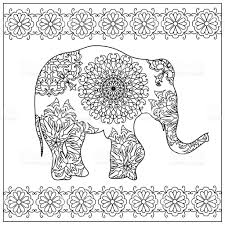 elephant coloring page stock vector art 493982902 istock