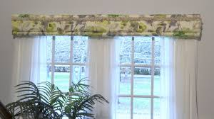 double window treatments double window treatment with sheers decowrap no sew cornices and