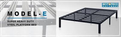 Metal Platform Bed Frames Amazon Com Best Price Mattress Model E Heavy Duty Steel Slat