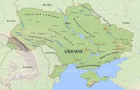 Physical Map Of Southwest Asia by Ukraine Physical Map