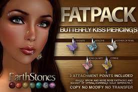 second marketplace earthstones piercings butterfly