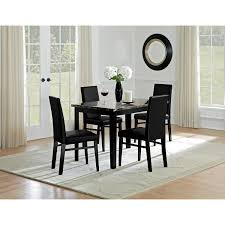 dining room sets with fabric chairs shadow table and 4 chairs black value city furniture