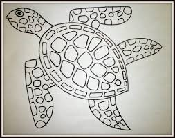 kids art lesson how to draw a sea turtle feltmagnet