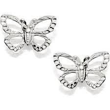 andralok earrings earrings silver butterfly andralok earrings 10mm 069921 polyvore