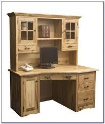 Solid Wood Corner Desk Wood Corner Computer Desk Hutch Desk Home Design Ideas