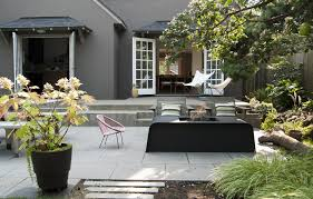 Paver Patio Designs With Fire Pit Concrete Patio Designs Patio Contemporary With Built In Bench
